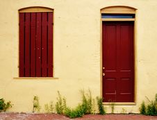 Free Window, Door And Weeds Stock Photo - 3004670