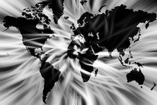 Free Black And White World Map Stock Image - 3004771