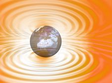 Free World On The Ripple Royalty Free Stock Photography - 3005947