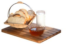 White Bread And Milk Royalty Free Stock Image