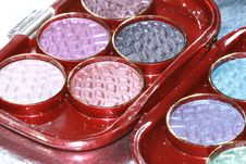 Free Blue And Violet Eyeshadows Royalty Free Stock Photography - 3006487
