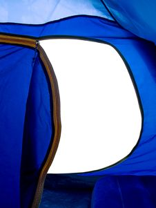 View From Tent Stock Photo