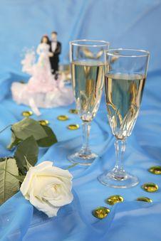 Free Wedding Cake Dolls, Rose Stock Images - 3006764