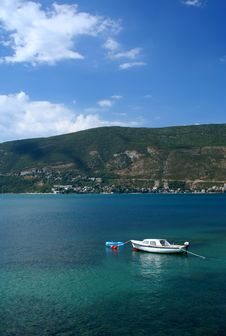 Free Boat On Sea In Montenegro Royalty Free Stock Image - 3007126