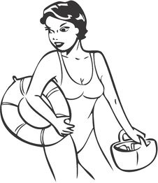 Free Girl On Beach Stock Image - 3007141