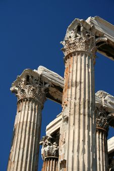 Free Temple Of Zeus Pillars, Athens Royalty Free Stock Photography - 3007327