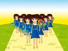 Free Schoolgirls Stock Photo - 3009780