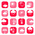 Free Color Weather Icon Set Royalty Free Stock Image - 30000636