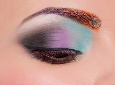 Free Eye With Creative Make Up Royalty Free Stock Photo - 30000275