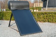 Modern Solar Water Heater Stock Photography