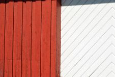Red And White Painted Wood Background Stock Photo