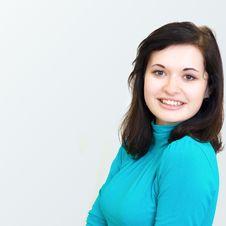 Free Beautiful Brunette Girl Smiling Cheerfully Stock Image - 30004631