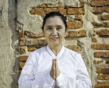 Free Thai Woman With Typical Welcome Expression Stock Photos - 30007413