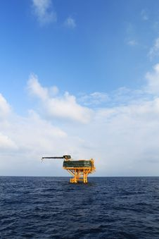 Offshore Production Platform Stock Image