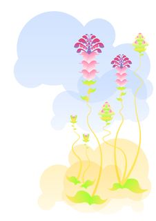 Free Abstract Flowering Plants Royalty Free Stock Image - 30009646