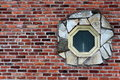 Free Interesting Window In Brick Wall Stock Photography - 30012802