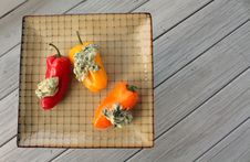 Free Colorful Peppers And Spinach Dip Stock Photo - 30010210