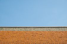 Free Buddhist Temple Ceramic Roof Stock Image - 30016341