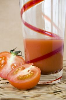 Glass Of Tomato Juice Royalty Free Stock Photo