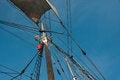 Free Climbing The Mast Of A Tall Ship Stock Photos - 30024743