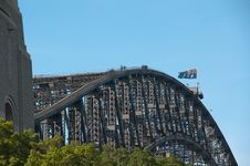 Free Sydney Harbor Bridge Climbers, Australia Stock Photography - 30023722
