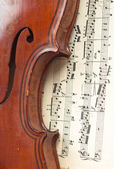 Free German Violin Of The Nineteenth Century. Stock Photos - 30024383