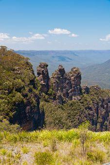 Three Sisters, Blue Mountains, Australia Stock Photos