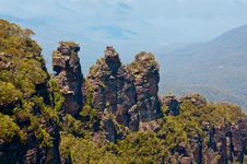 Three Sisters, Blue Mountains, Australia Stock Image
