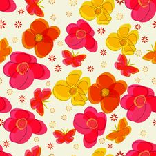 Simple  Vector Seamless  Pattern. Royalty Free Stock Image