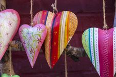 Free Colorful Ceramic Heart Royalty Free Stock Images - 30029459