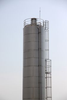 The Stainless Steel Water Tank. Stock Photography