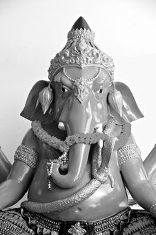 Free The Ganesh Black And White. Royalty Free Stock Photos - 30031768