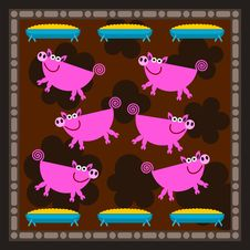 Free Piggery Royalty Free Stock Image - 30031856