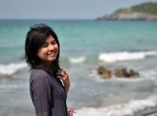Free Young Asian Woman On Beach Summer Holiday Stock Images - 30032124
