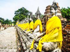 Free Buddha Statue Ayutthaya Stock Photos - 30035023