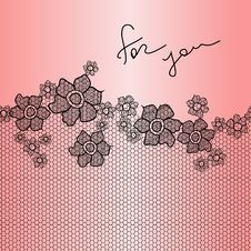Free Lace Floral Background Royalty Free Stock Image - 30037316