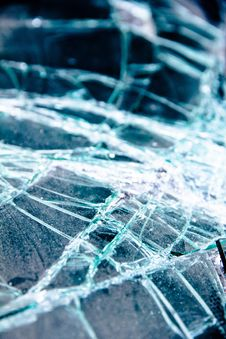 Glass Cracked Background Royalty Free Stock Images