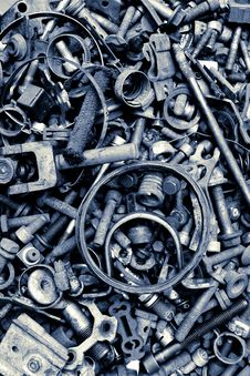 Free Assorted Old Screws Background Stock Photos - 30038813