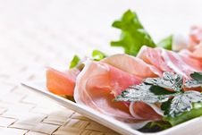 Ham And Salad Royalty Free Stock Photography