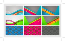 Free Colorful Cards. EPS 10 Royalty Free Stock Photos - 30043428