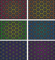 Free Honeycomb Background Royalty Free Stock Photography - 30043657