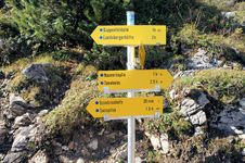 Free A Signpost In The Allgaeu Alps Stock Image - 30045871