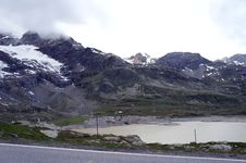 The Bernina Pass In Grisons Stock Image