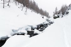 Free Mountain Winter Landscape Stock Images - 30046834