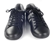Free Black New Sneakers Front View Stock Images - 30047554