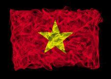 Smoky Flag Of China Royalty Free Stock Image