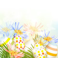 Free Easter  Outdoor Background With Clear Space, Eggs And Green Gras Stock Photos - 30054553