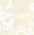 Free Elegant Wedding Background With Roses And Butterflies Royalty Free Stock Photography - 30054607