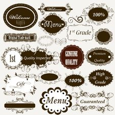 Free Calligraphic Retro Elements And Page Decorations Royalty Free Stock Photos - 30054258