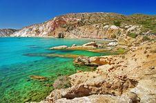 Free Milos Island Beaches. Greece Series Stock Photo - 30054310